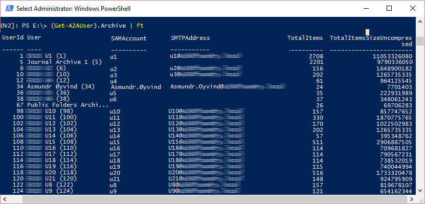 Powershell Email Archive Migration